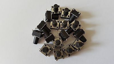 MICRO SWITCH,TACTILE TACT SWITCH 4pin 12V PACK OF 20 SIZE 6X6X9 MM
