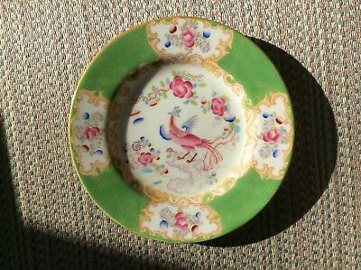 ''cockatrice'' - Green - By Minton -- Bread & Butter Plate -- 6 Available -