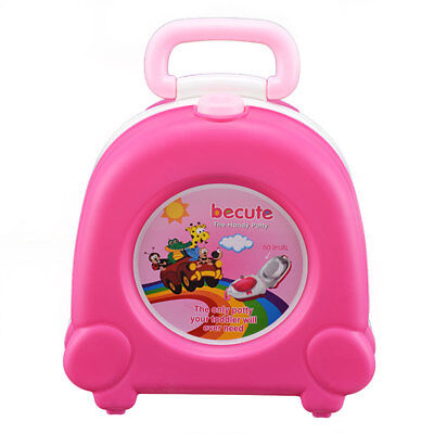Toddlers Baby Potty Training Urinal Pee Pot Toilet Portable Car Travel Seat Pink