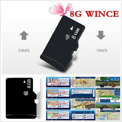 2017 Latest Europe Map 8GB Card Wince GPS Software For Car DVD GPS Navigation