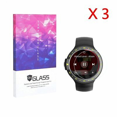 For Ticwatch S Tempered Glass Screen Protector 9H Hardness (3 Packs)