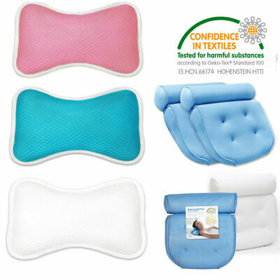 Neck Support Relaxation Bath Pillow Non-Slip Bathtub Pillow with Suction Cups
