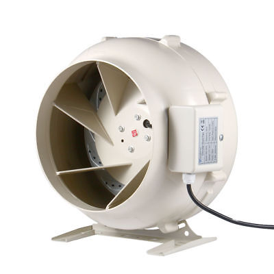 "6"" Centrifugal Inline Duct Fan Hydroponic Extractor Booster Blower Fan 494CFM"