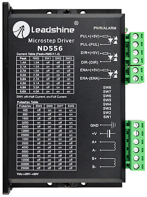 Leadshine ND556 Stepper Driver 20~50VDC With 1.4~5.6A For Nema 23,24,34 Motor