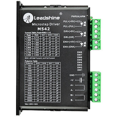 Leadshine M542 Stepper Driver 20-50 VDC With 1.0-4.2A For Nema 17,23,24,34 Motor