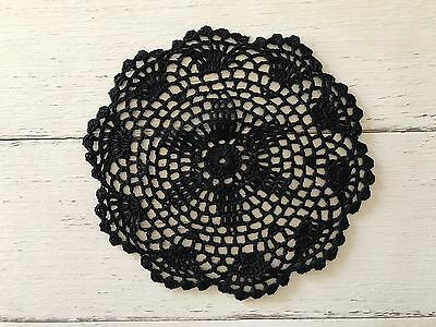 20 Cm New Black Crochet Lace Doily