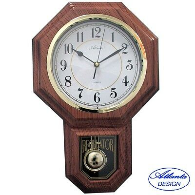 Atlanta Wall Clock Quartz Pendulum High Quality abs-gehaeuse Westminster Melody