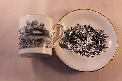 ROYAL CHELSEA COFFEE CAN CUP DEMI TASSE 1950'c HUNTING FISHING ESPRESSO