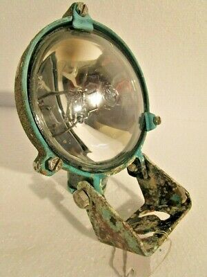 Real Antique SHIP'S BRASS SEARCH Light / Lamp with STAND- SHIP'S ORIGINAL (1584)