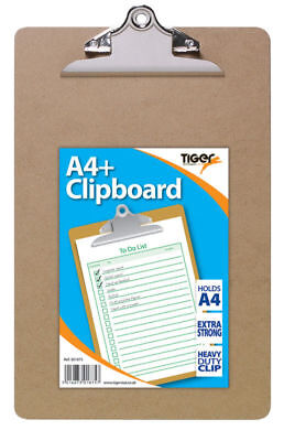 5 X Christmas SALE A4 Quality Wooden Clipboard with Hanging Hole - Clip Board