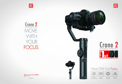 Zhiyun Crane 2 Stabilizer Handheld Gimbal Support Max 3.2kg For Sony Canon Nikon