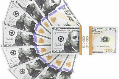 Set of 100 Realistic Double Sided Prop Money $100 Dollar Bills Fake Prank USA