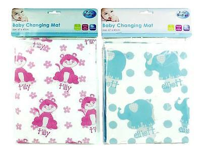 """Baby Changing Mat Wipe Clean Ideal for Home or Travel """"First Steps"""""""