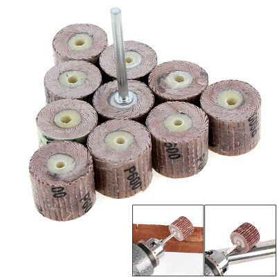 10pcs 240 Grit Flap Sanding Wheel Grinding Disc for Rotary Tool Mini Dril