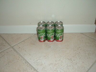 """New - 2017 Holiday Christmas Coke """"Life"""" Coca Cola 7.5 oz FULL Cans 6 Pack"""