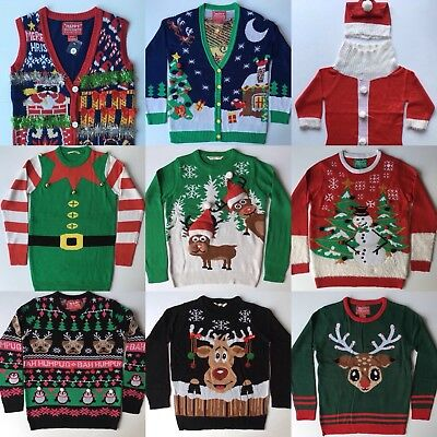 Christmas Xmas Unisex Ugly Jumper Sweater Retro Novelty Party Ladies Mens New