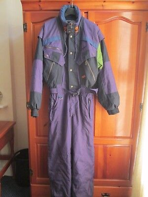 """SKI SUIT ALL IN ONE 1980's/90's RETRO - RODEO - PRE OWNED size 36/38"""" CHEST"""