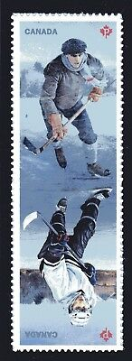 2017 Canada SC# History of Hockey - Joint Issue - pair from Booklet M-NH