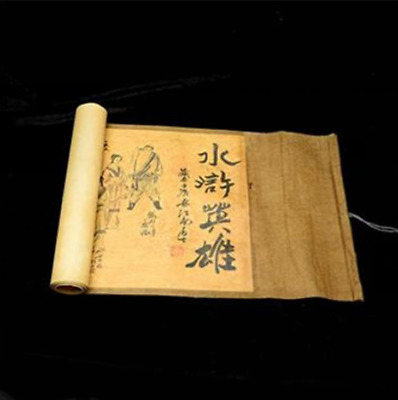 Collection of Chinese Old scroll painting on silk: the Water margin NRT016