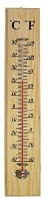 Apollo Traditional Wooden Thermometer Wall Mounting with C & F Reading
