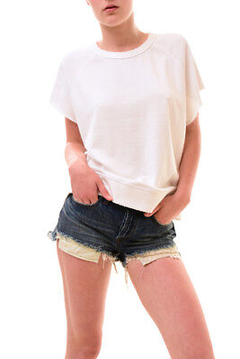 Free People OB580516 Moss Green Itsy Bitsy Linen Blend Military Shorts $88