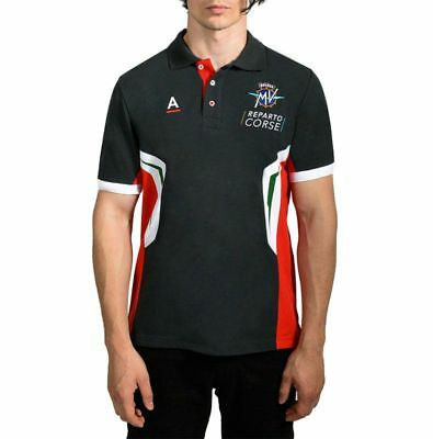 Genuine Mv Agusta Reparto Corse Rc Piquet Polo Shirt Mens Gift Idea