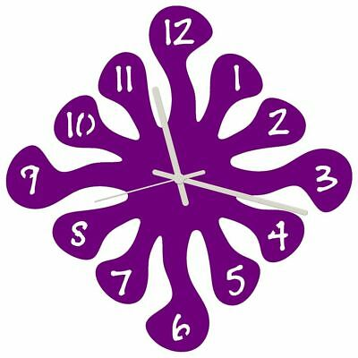 Euphyllia-Splash Large Wall Clock 32cm Purple (e9574pur)
