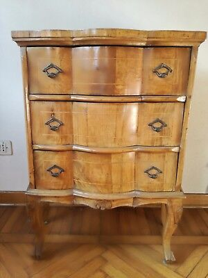Small dresser dresser dresser furniture three drawers Thomas Chippendale inlaid
