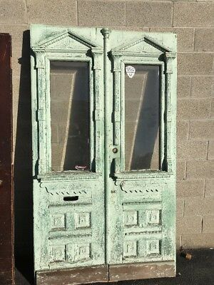 Phil 3 Match Pair Carved Entrance Doors 47.75 X 83.5