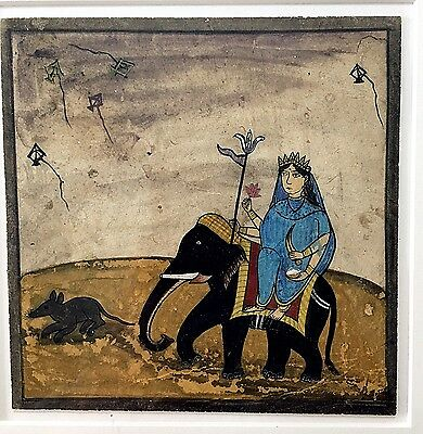 Indian Miniature: painting on paper board framed Nice !!