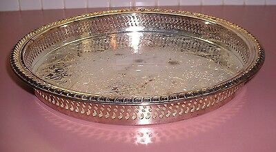 Antique Siilver Plated Serving Platter Tray Vintage International Silver Company