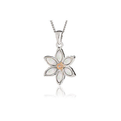 """Official Welsh Clogau Silver & Rose Gold Lady Snowdon Pendant (22"""") £60 off!"""