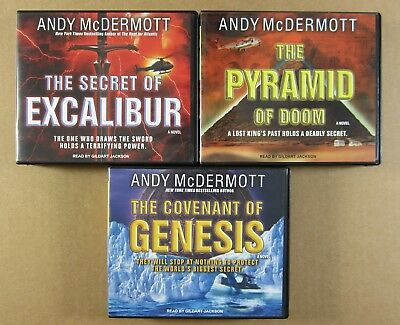Andy McDermott 3 Unabridged Novels CD Audiobook Lot pyramid excalibur genesis