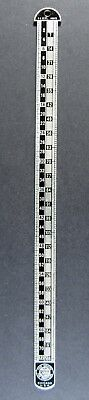 vintage HB Rouse Chicago TIME SAVERS for Printers 6 12 PT Agate typesetter ruler