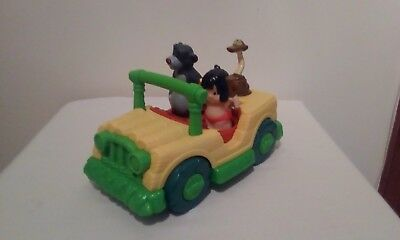 Disney Little People The Jungle Book Musical Car Baloo Mowgli Figures