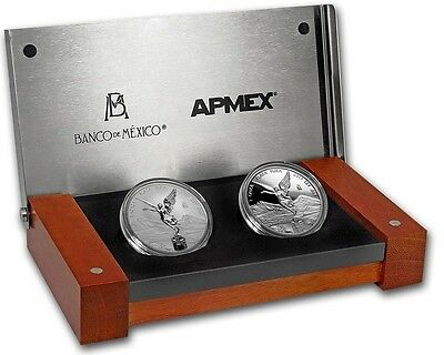 2017 Mexico 2-Coin Silver Libertad Proof/Reverse Proof Set.. Limited Mintage 500