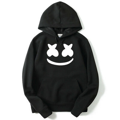 Marshmello Hoodie Edm DJ Music Sweatshirt Jacket Top Pullover Unisex Coat Tops