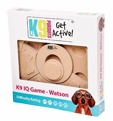 Pet Dog IQ Game Interactive Intelligence Game Toy Treat Watson K9 2/5 Difficulty