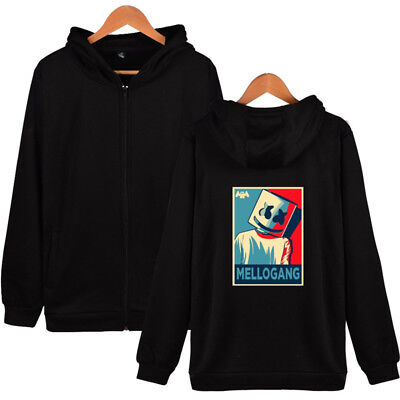 Marshmello Hoodie Jacket Top Pullover Unisex Coat Tops Edm DJ Music Sweatshirt