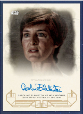 Topps Star Wars Card Trader GALACTIC HERITAGE SIGNATURE Caroline as Mon Mothma