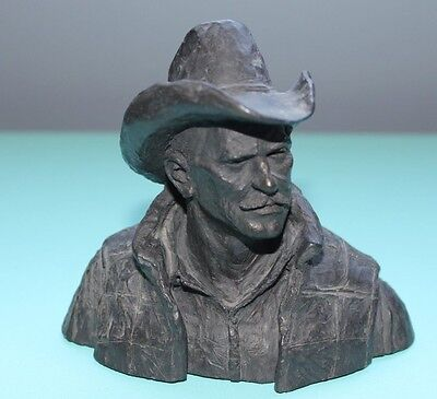 Michael Garman Bronzetone Cowboy Sculpture signed '74
