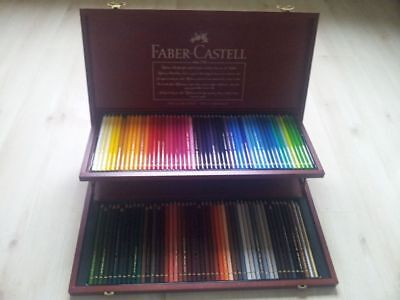 faber castell buntstifte polychromos 100er 100 holzkoffer. Black Bedroom Furniture Sets. Home Design Ideas