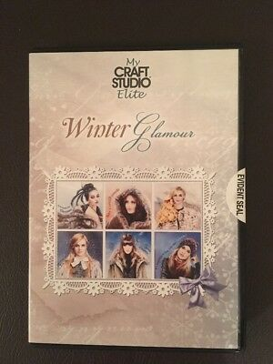 Cd Rom Paper Crafting Card Making WINTER GLAMOUR MY CRAFT STUDIO ELITE