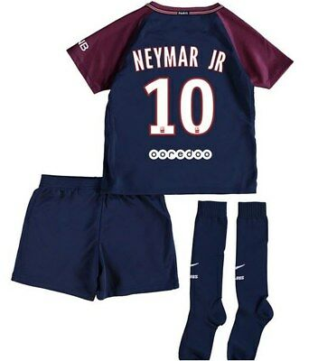 Nike PSG Paris Saint Germain Home Kit 2017/18 Neymar 10 - Little Kids
