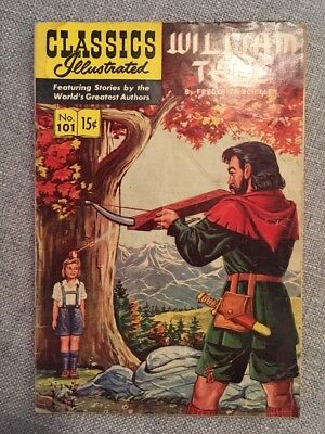 Rare Golden age Classics Illustrated William Tell 1952 Issue No. 101