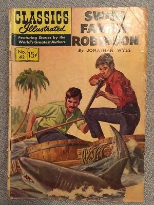 Rare Golden age Classics Illustrated Swiss Family Robinson Issue No. 42