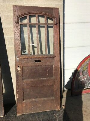 Phil 25 Antique Oak Craftsman Style Entry Door 35.75 x 83.75