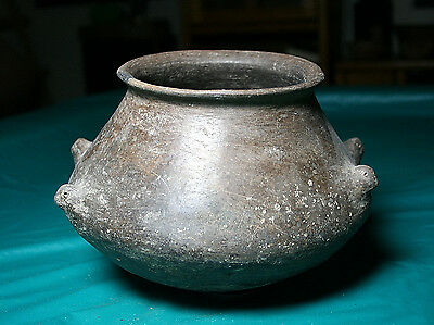 """Casas Grandes brown olla with 4 bird heads ca. 900 ad. """"Mint"""""""