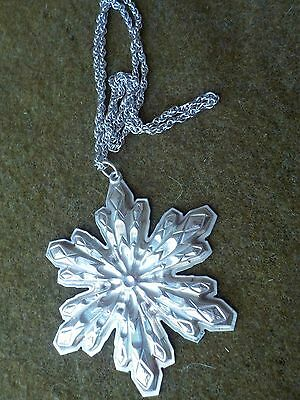 "Gorham Sterling Christmas Star Ornament 1974 Minty N Clean W 24"" Chain 26.6 Gr"