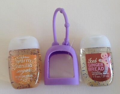 Bath & Body Works  2 x Hand Sanitizer Anti-Bac Gel & Holder, Christmas Gift 5